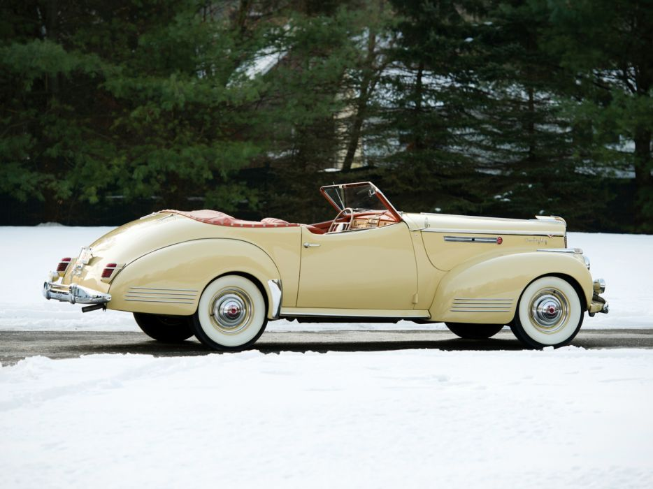 1941 Packard 180 Super Eight Convertible Victoria Darrin (1906-1429) luxury retro t wallpaper