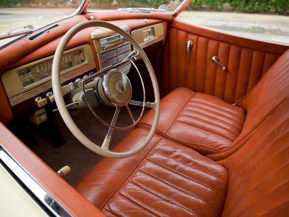 1941 Packard 180 Super Eight Convertible Victoria Darrin (1906-1429) luxury retro interior    h wallpaper