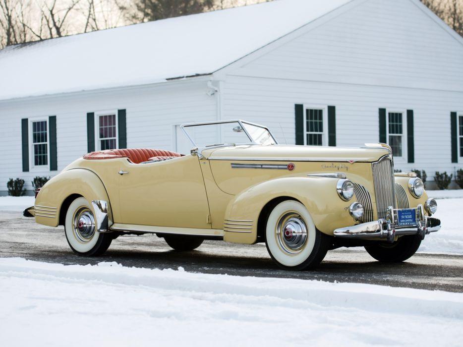 1941 Packard 180 Super Eight Convertible Victoria Darrin (1906-1429) luxury retro  v wallpaper