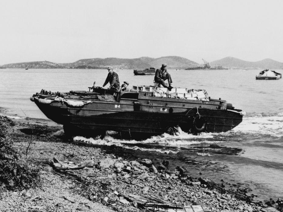 1941-45 GMC DUKW 353 military retro boat ship 6x6 e wallpaper