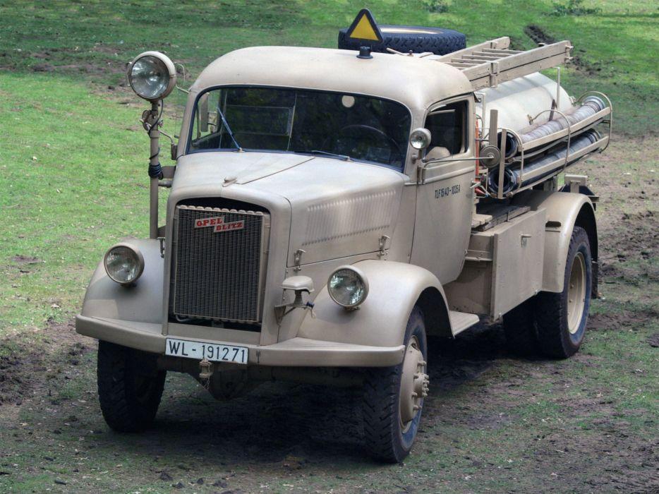 1943 Opel Blitz 36-6700A TLF-1543 semi tractor retro      f wallpaper