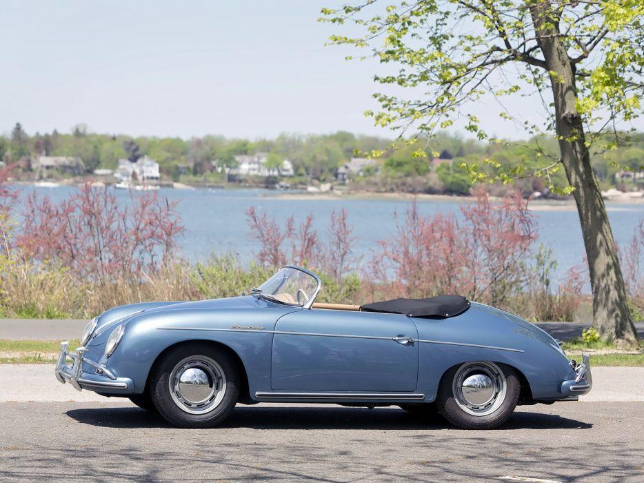 1955-57 Porsche 356A 1600 Speedster Reutter US-spec (T-1) supercar retro e wallpaper