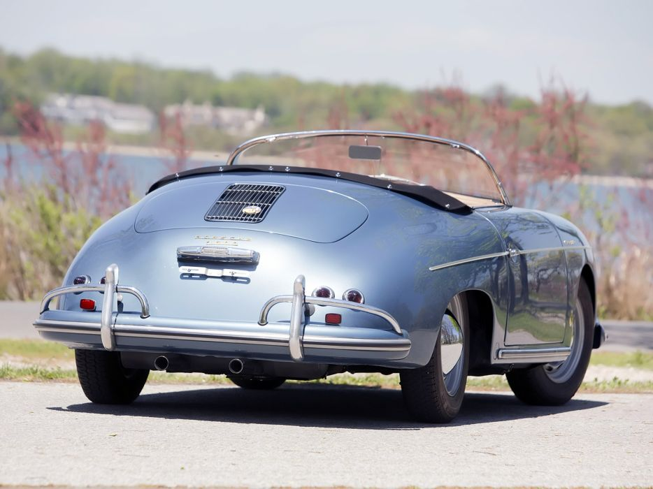 1955-57 Porsche 356A 1600 Speedster Reutter US-spec (T-1) supercar retro  h wallpaper