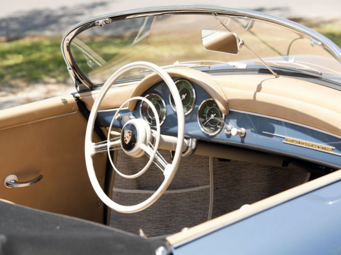 1955-57 Porsche 356A 1600 Speedster Reutter US-spec (T-1) supercar retro interior g wallpaper