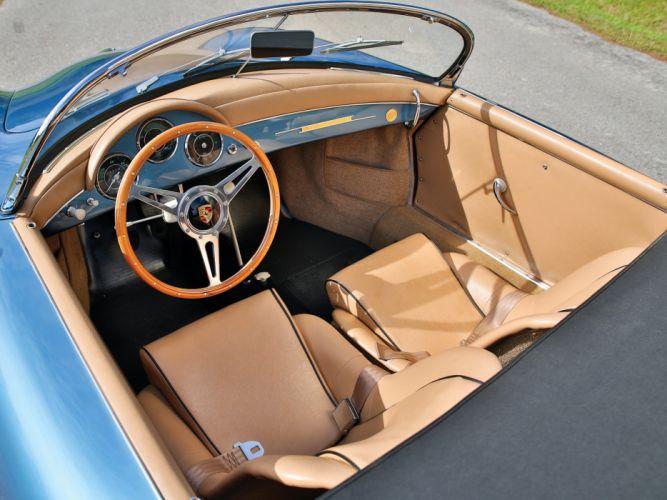 1955-57 Porsche 356A 1600 Speedster Reutter US-spec (T-1) supercar retro interior g wallpaper