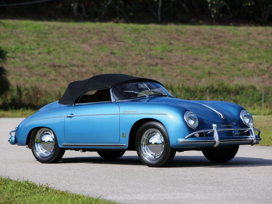 1955-57 Porsche 356A 1600 Speedster Reutter US-spec (T-1) supercar retro   f wallpaper