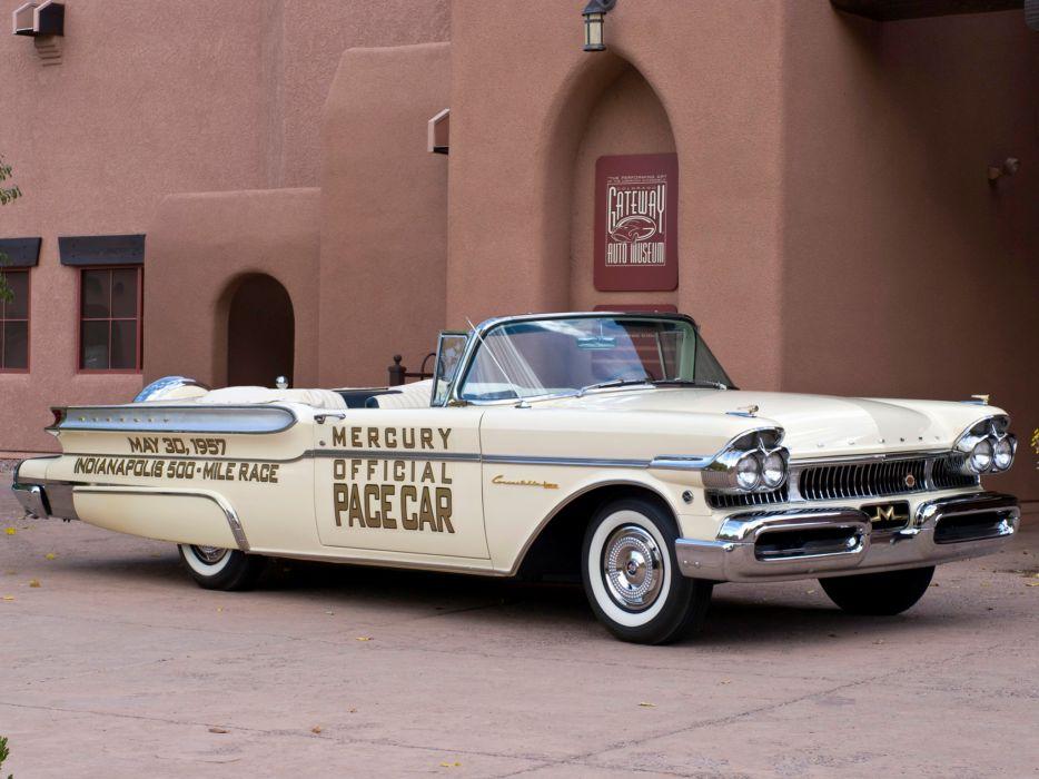 1957 Mercury Turnpike Cruiser Convertible Indy 500 Pace (76S) luxury retro race racing    y wallpaper