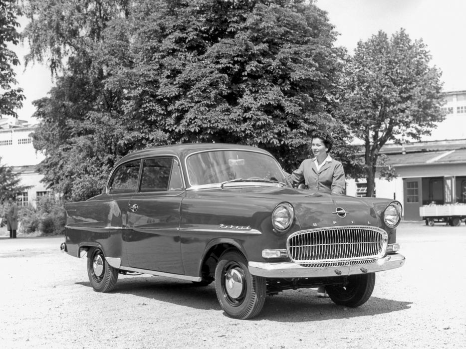 1957 Opel Olympia Rekord retro wallpaper