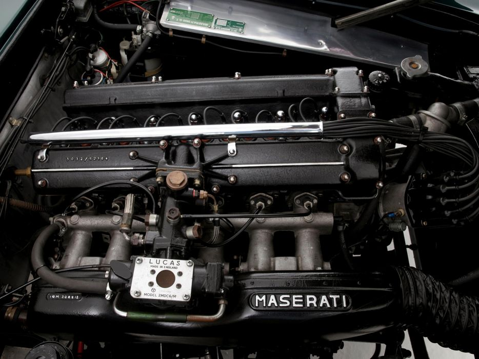 1962-65 Maserati 3500 GTi Sebring (AM101) classic engine    f wallpaper