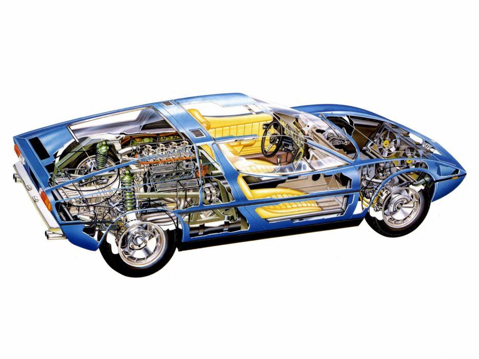 1971-78 Maserati Bora (AM117) supercar classic interior engine   g wallpaper