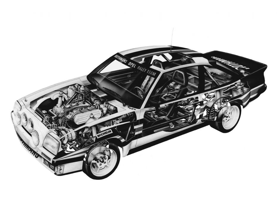 1980-84 Opel Manta 400 (B) race racing interior engine       g wallpaper
