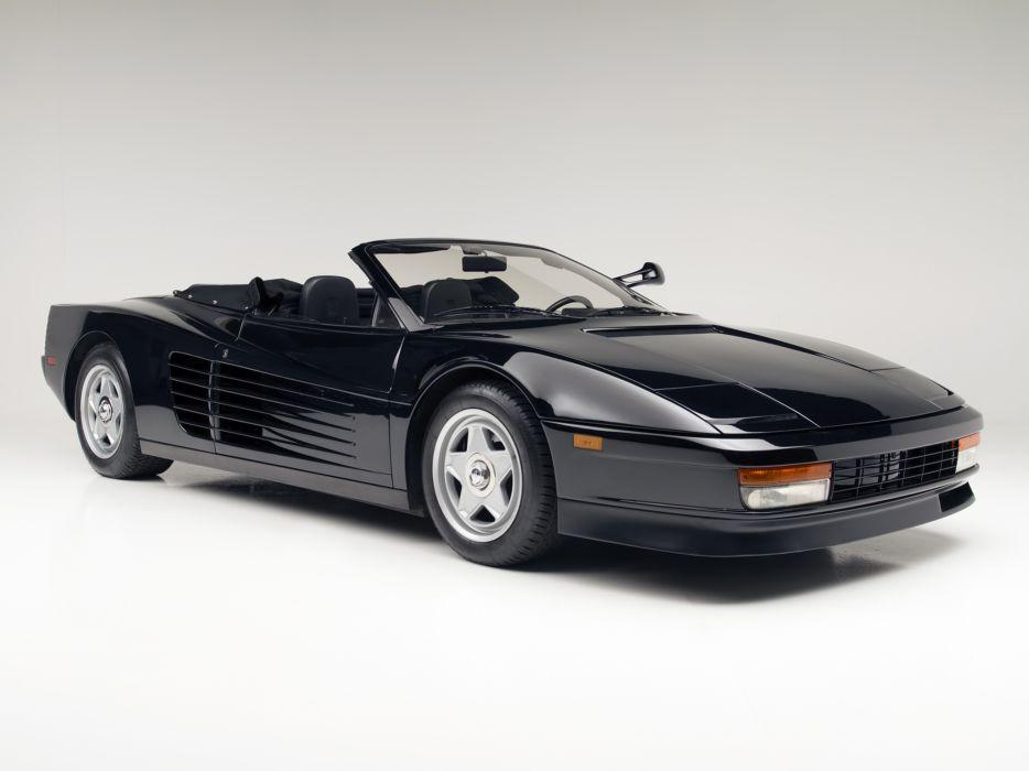 1986 Ferrari Testarossa Spider supercar h wallpaper
