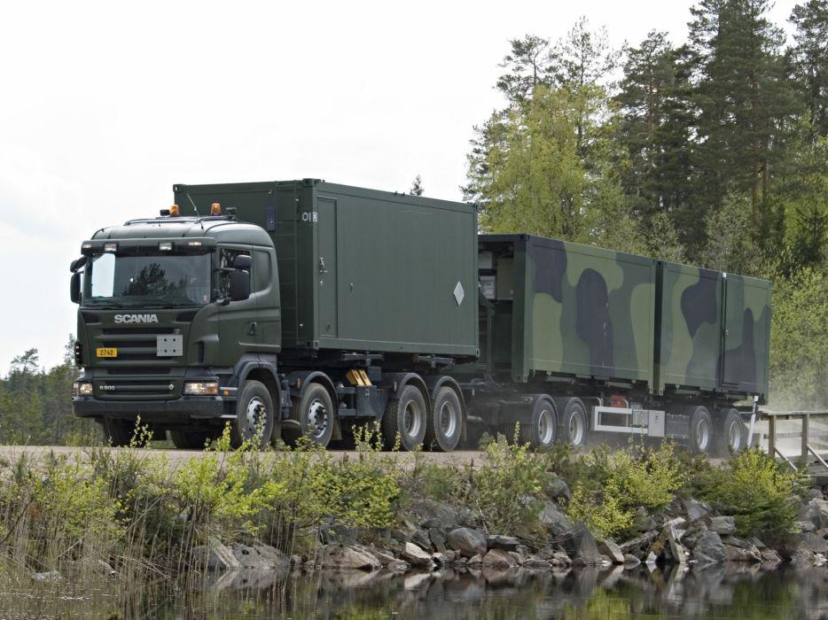 2004-09 Scania R500 8x4 HZ semi tractor h-z military     g wallpaper