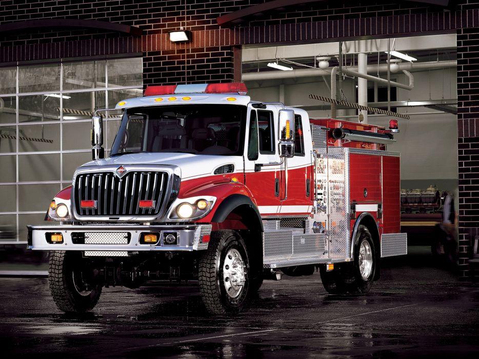 2008 International WorkStar 4x2 Firetruck emergency semi tractor wallpaper