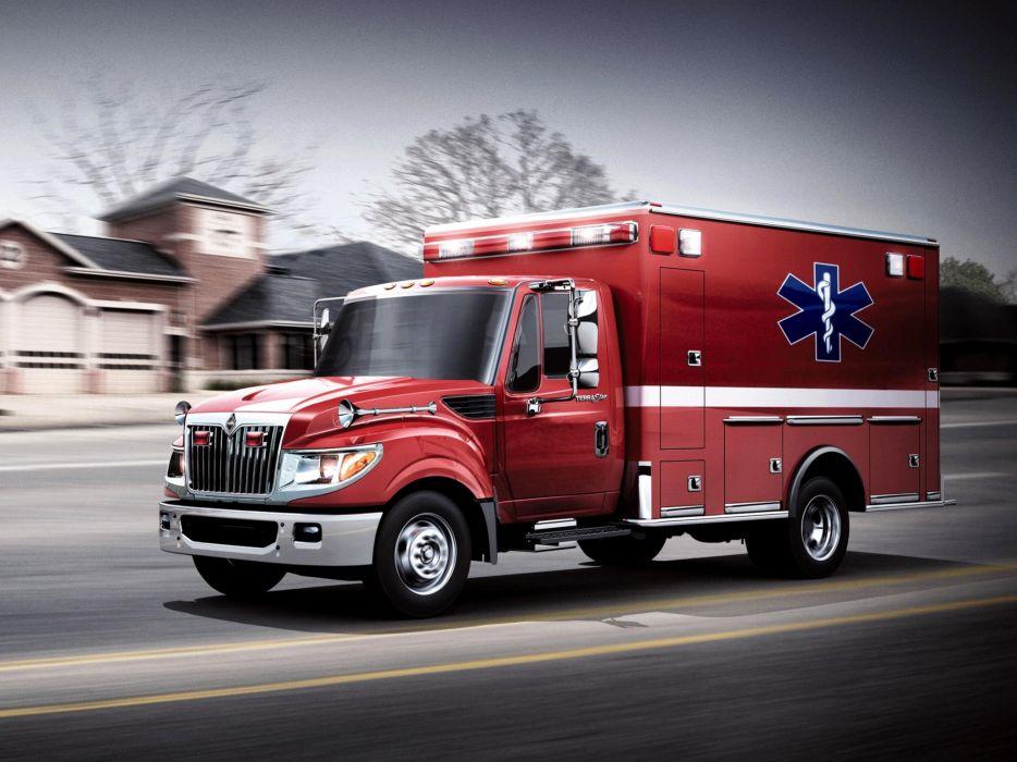 2010 International TerraStar Ambulance emergency firetruck semi tractor wallpaper