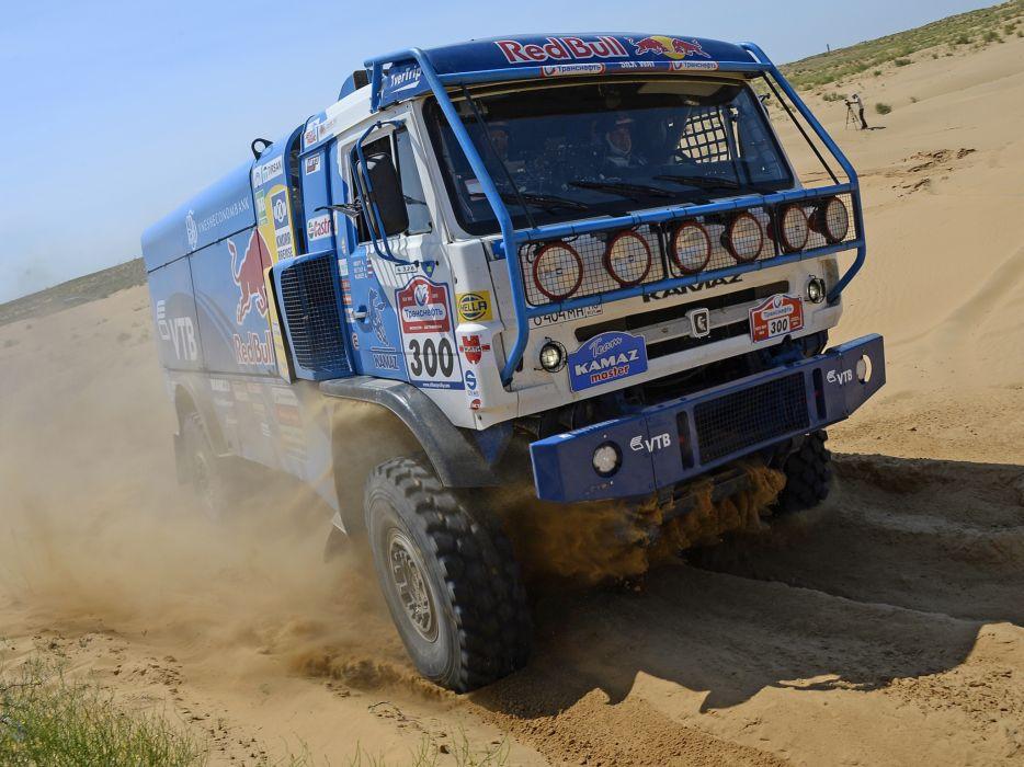 2010 Kamaz 4326-9 V-K dakar offroad 4x4 race racing semi tractor  f wallpaper