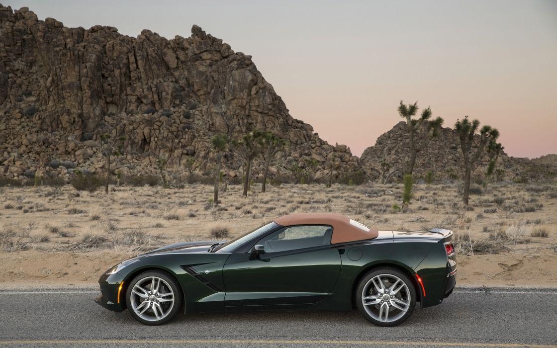 2014 Chevrolet Corvette Stingray Convertible supercar muscle      f wallpaper