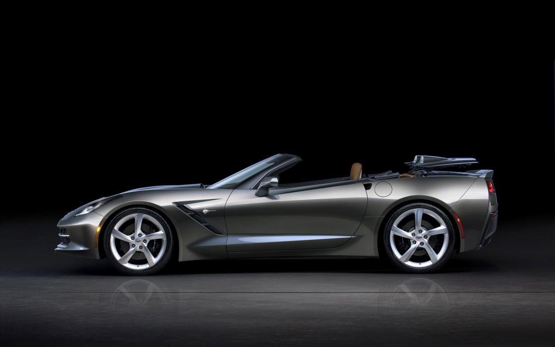 2014 Chevrolet Corvette Stingray Convertible supercar muscle   ge wallpaper