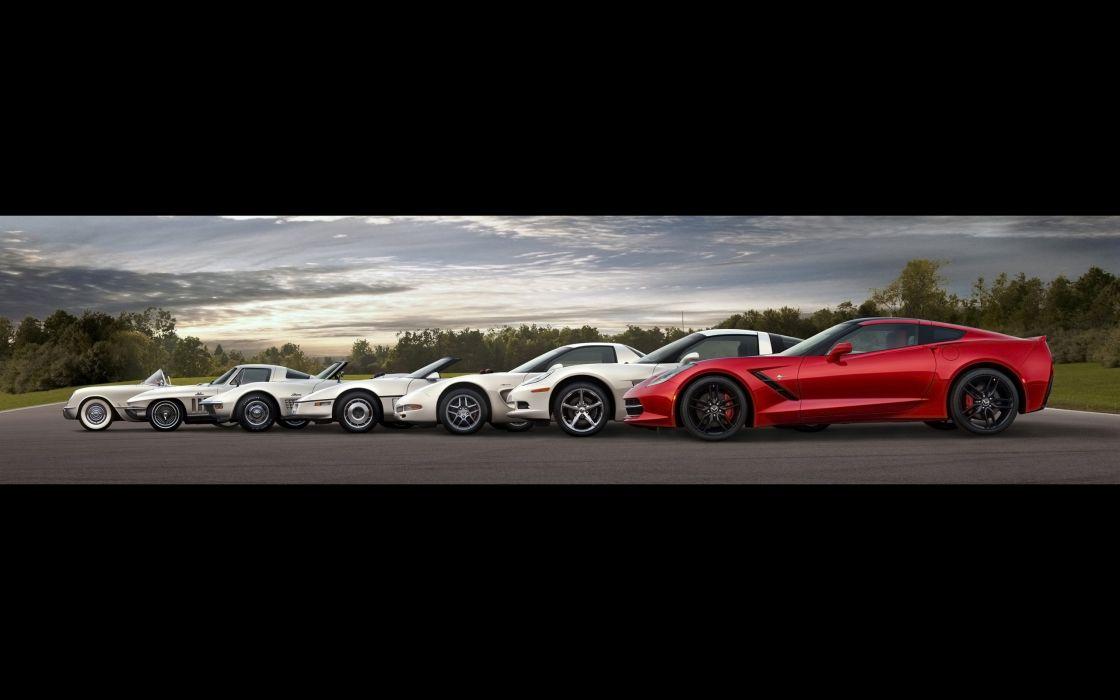 2014 Chevrolet Corvette Stingray supercar muscle       f wallpaper