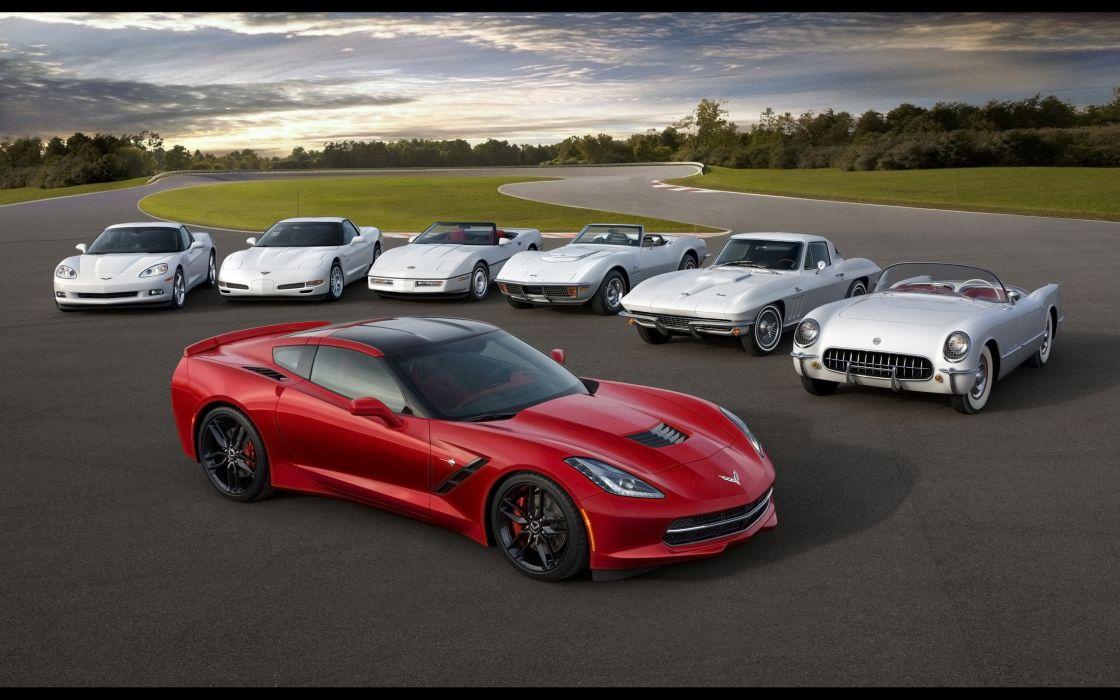 2014 Chevrolet Corvette Stingray supercar muscle d wallpaper