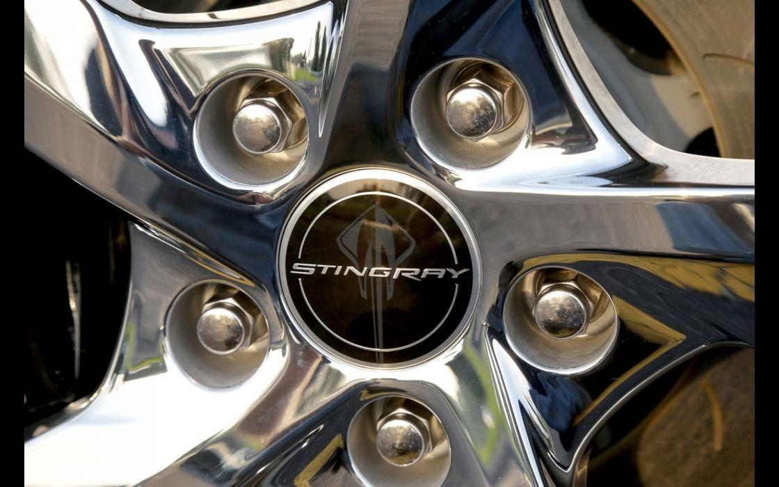 2014 Chevrolet Corvette Stingray supercar muscle poster wheel  d wallpaper