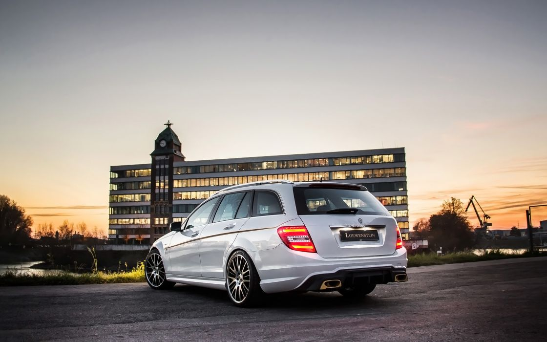 2014 Loewenstein Mercedes Benz C63 AMG LM63-700 Compressor stationwagon tuning    y wallpaper