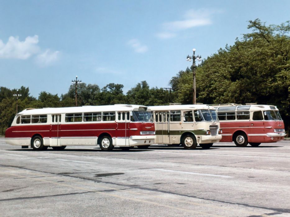 Ikarus bus transport semi tractor retro wallpaper