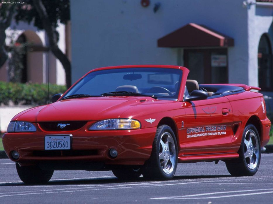 Ford Mustang Cobra Indy Pace Car 1994 wallpaper