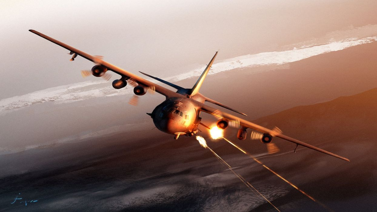 aircraft guns AC-130 Spooky/Spectre wallpaper