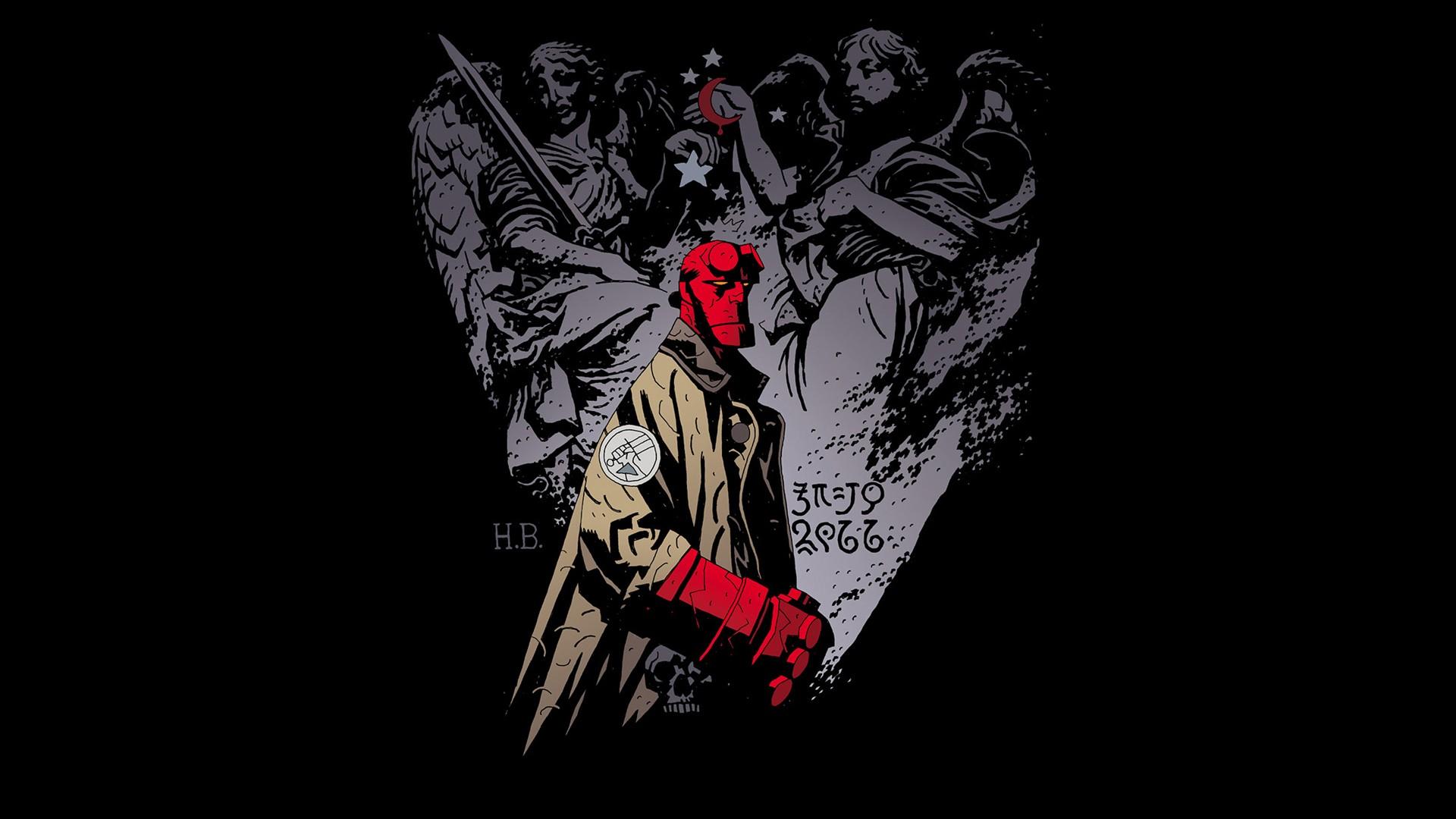 comics hellboy wallpaper 1920x1080 222240 wallpaperup