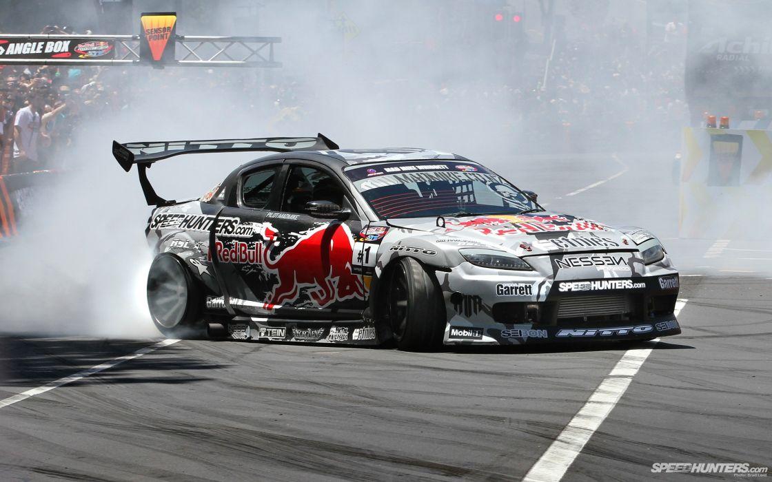 cars smoke Mazda drift wallpaper