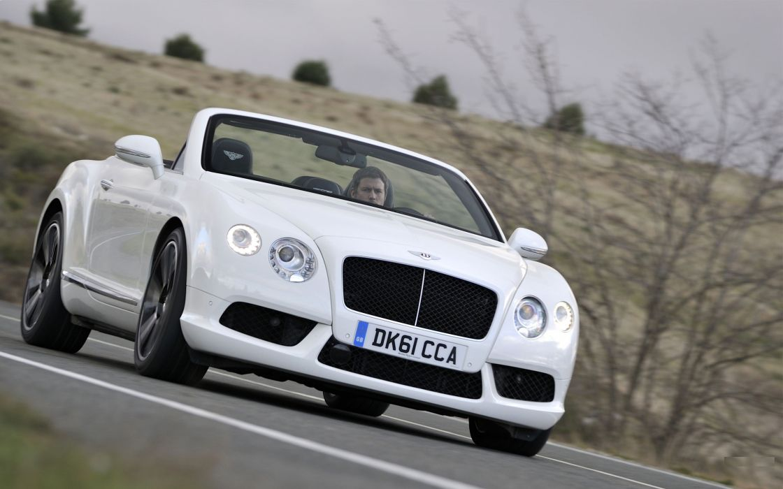 cars Bentley Bentley Continental GTC front angle view wallpaper