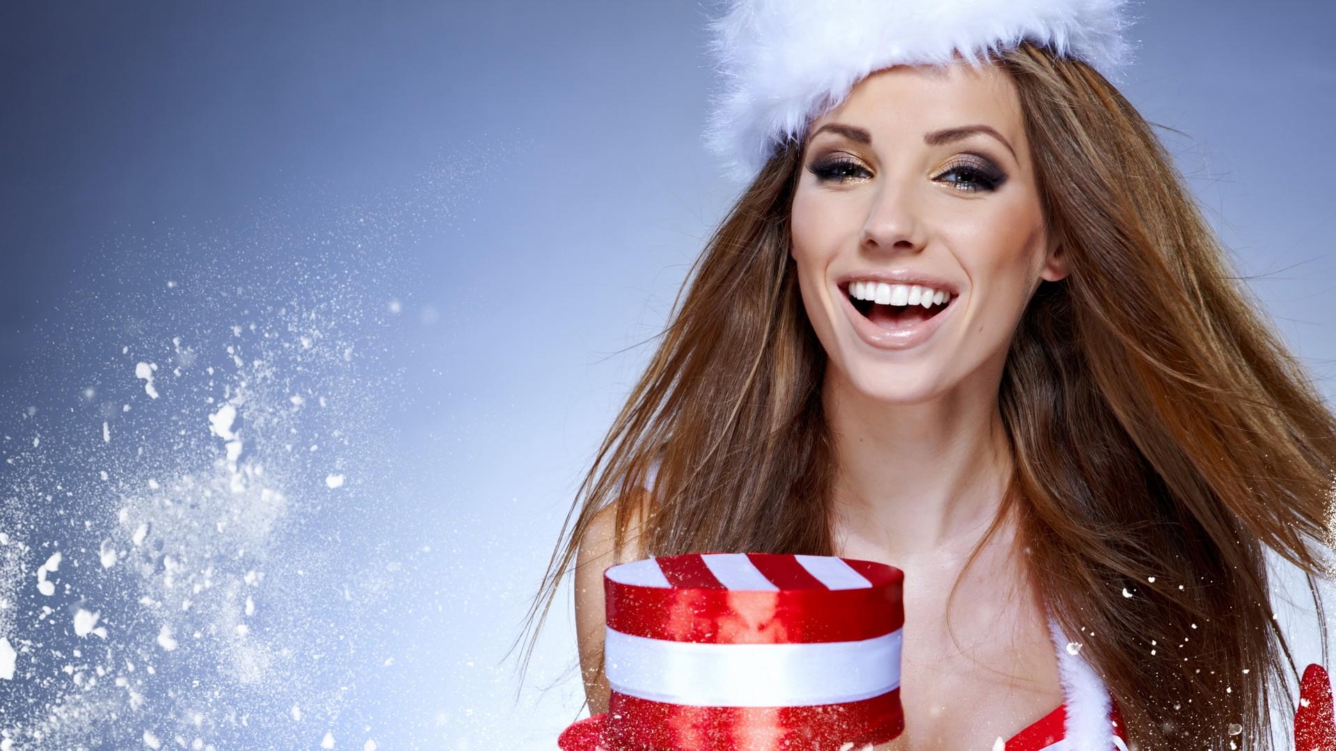 Christmas Model.Women Models Christmas Christmas Outfits Santa Wallpaper