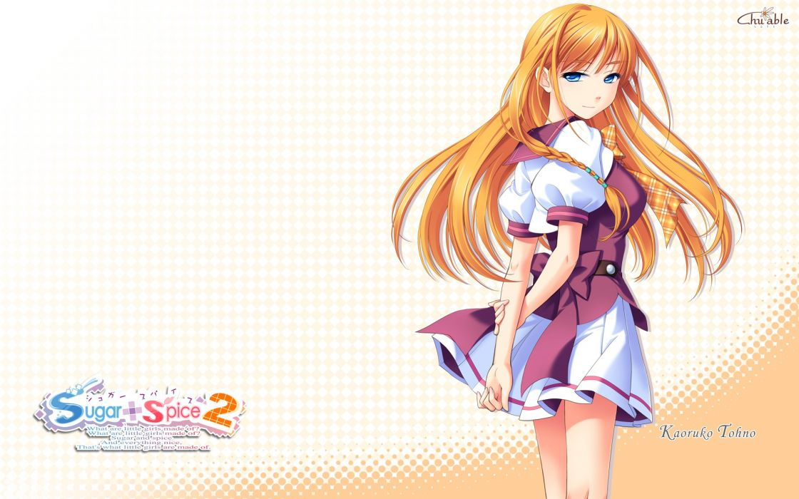 blue eyes anime girls Sugar Spice 2 wallpaper