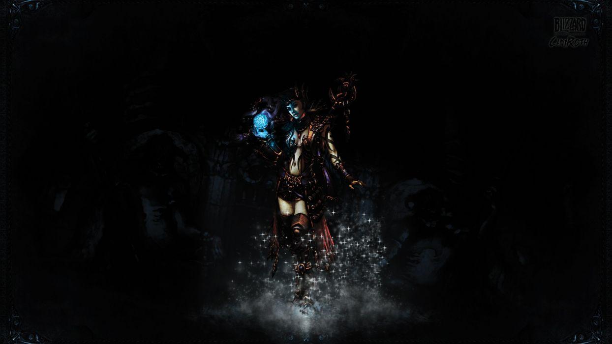 dark huntress artwork wallpaper