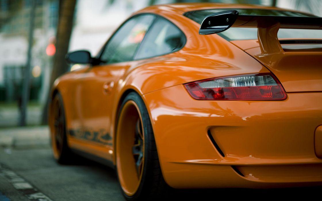 Porsche Orange Back View Vehicles Photo Manipulation Porsche 911 Gt3 Porsche 977 Orange Cars Wallpaper 1920x1200 222369 Wallpaperup