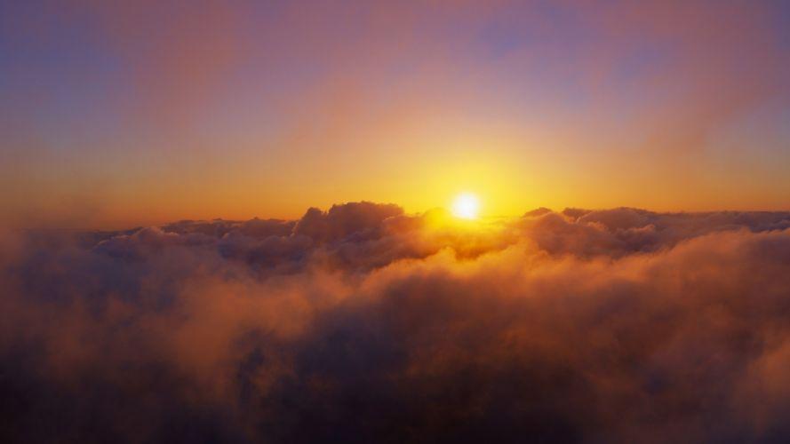 clouds landscapes nature Sun skyscapes wallpaper