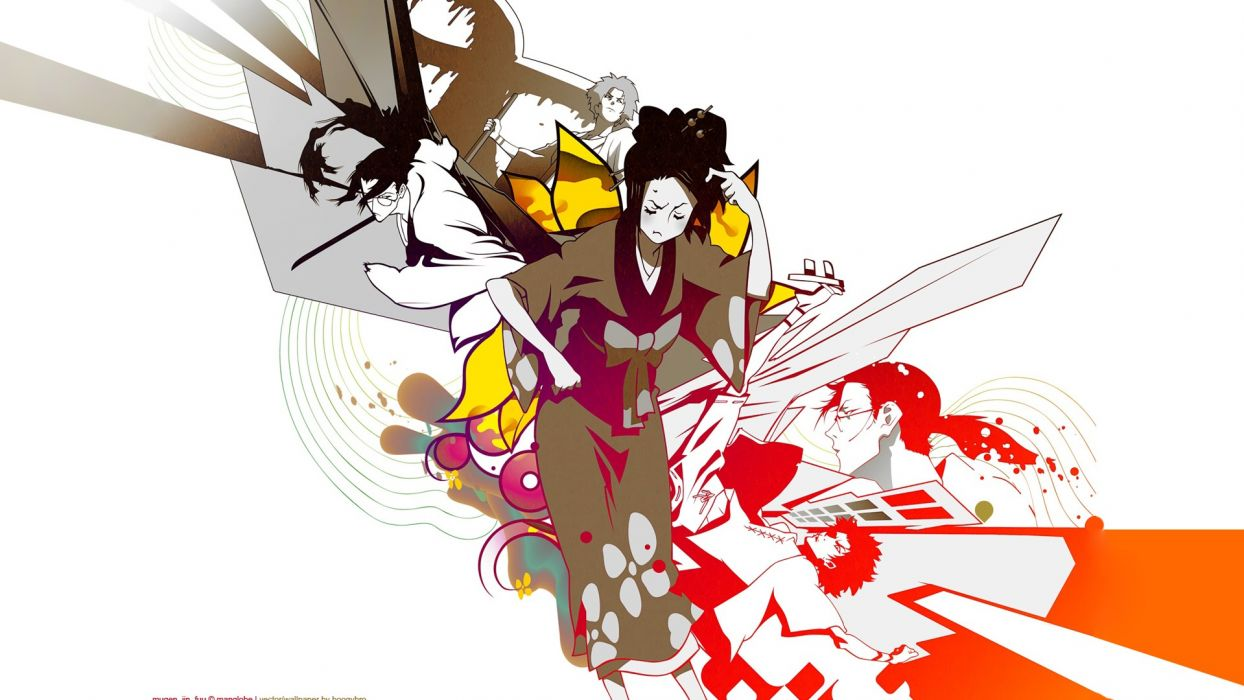 Samurai Champloo Mugen characters anime Fuu Japanese clothes anime girls Jin Roh wallpaper