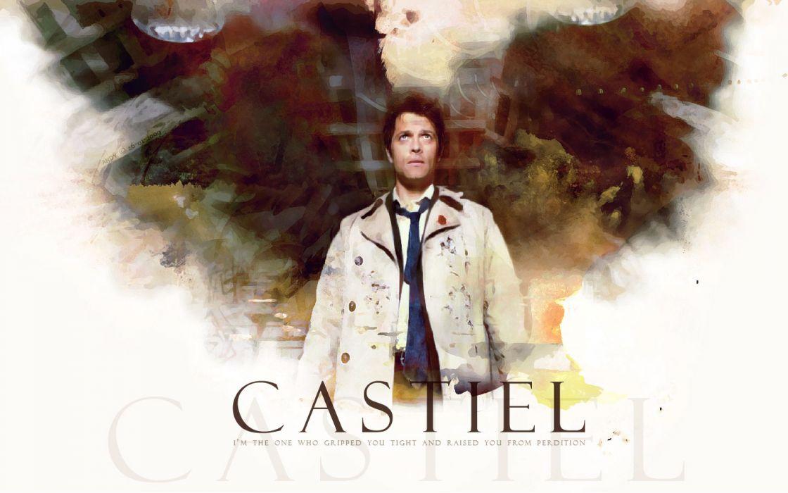 Supernatural Castiel Misha Collins Wallpaper