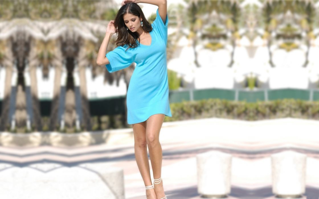 brunettes women dress models Carla Ossa wallpaper