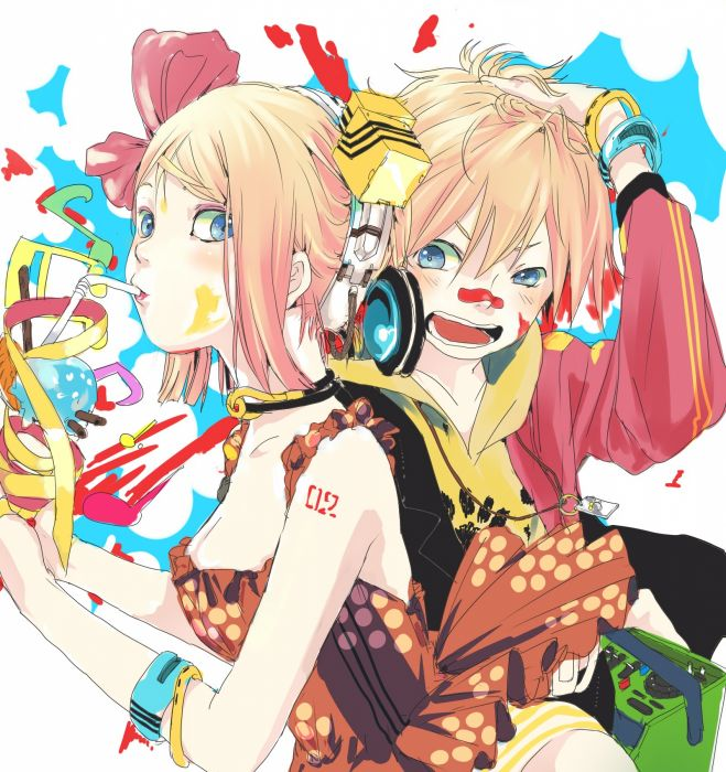 Vocaloid Twins Kagamine Rin Len Wallpaper