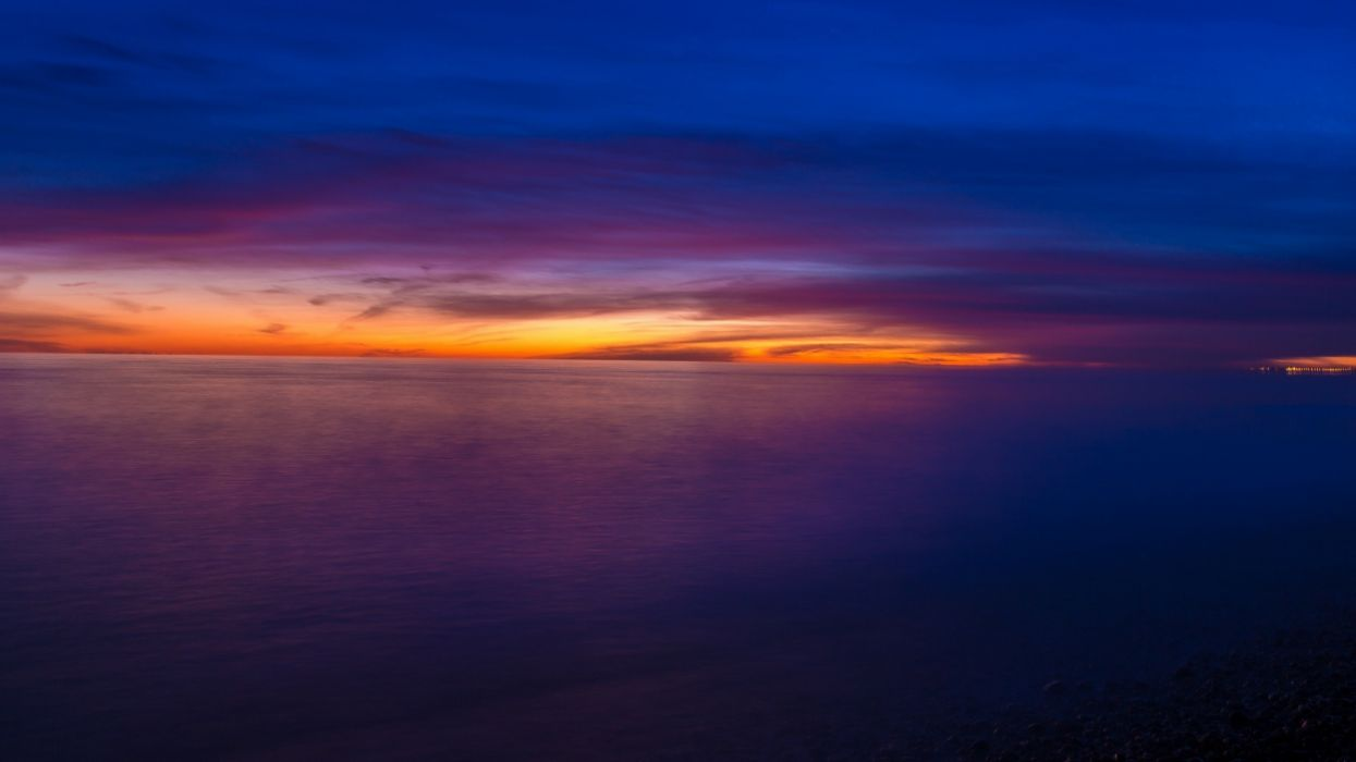 sunset clouds waterscapes wallpaper