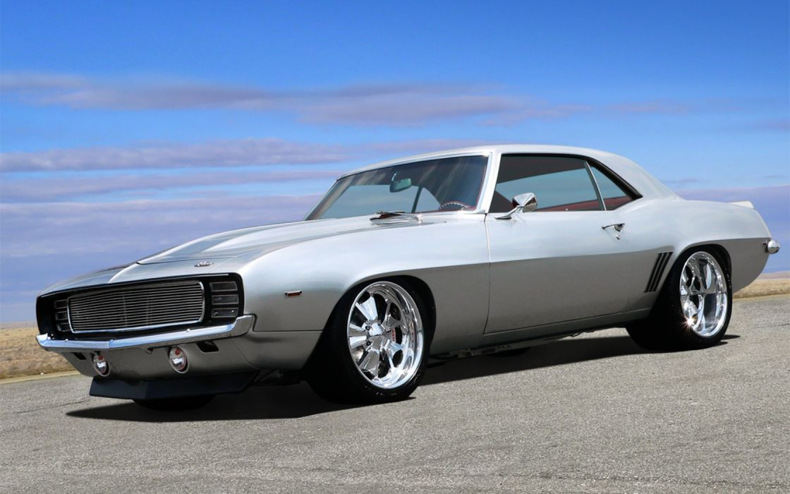American muscle cars silver vehicles Chevrolet Camaro SS sports cars wallpaper