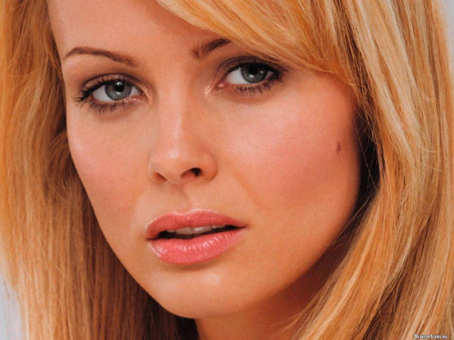 blondes women models Polish Izabella Scorupco faces wallpaper