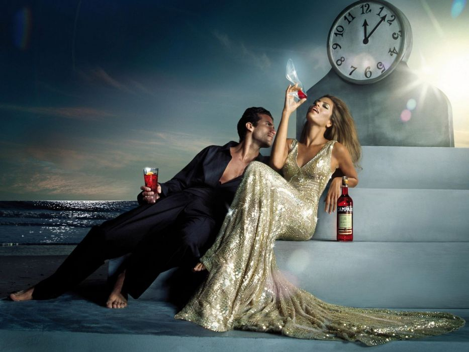 Eva Mendes alcohol Campari wallpaper