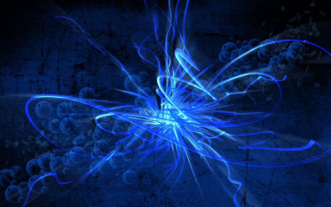 abstract waves digital art wallpaper