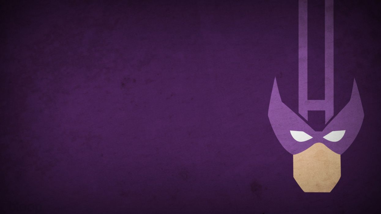 Minimalistic Marvel Comics Hawkeye Purple Background Blo0p Wallpaper