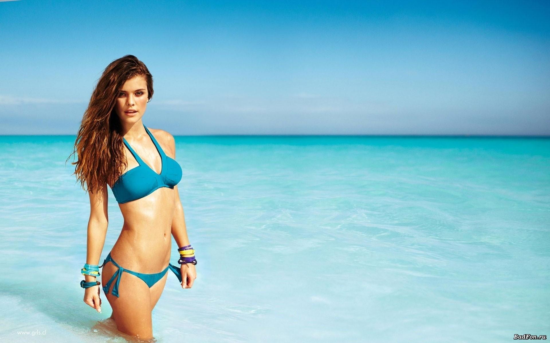 Women ocean bikini bra bracelets swimsuits Nina Agdal ... Megan Fox