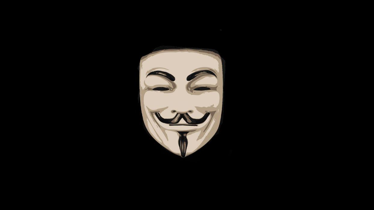 Anonymous masks Guy Fawkes V for Vendetta wallpaper