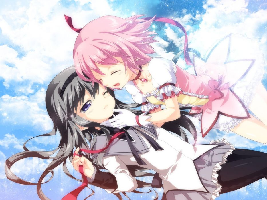 Mahou Shoujo Madoka Magica artwork anime manga anime girls wallpaper